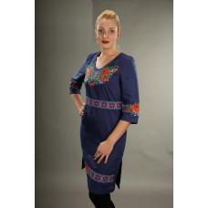 """Жіноча синя сукня """"Ожина"""" (5446)"""