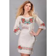 """Жіноча сукня сірого кольору """"Ожина"""" (5474)"""