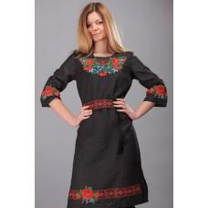 """Жіноча чорна сукня """"Ожина"""" (5475)"""