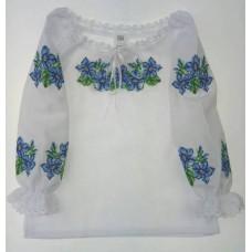 """Вишита блузка для маленької дівчинки """"Фіалка"""" (9944)"""