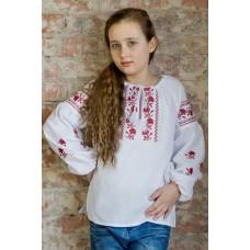 """Вишита блузка для дівчинки """"Кокетка"""" (9948)"""