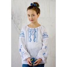 """Вишита блузка для дівчинки """"Кокетка"""" (9949)"""