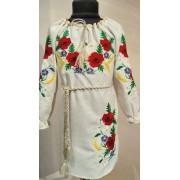 """Вишита сукня для дівчинки """"Польові маки"""" (9979)"""
