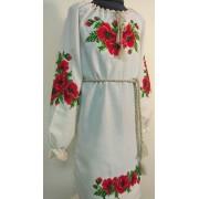"""Вишита сукня для дівчинки """"Оксамитові маки"""" (9988)"""