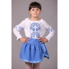 """Вишита блузка для дівчинки """"Троянди"""" (9990)"""